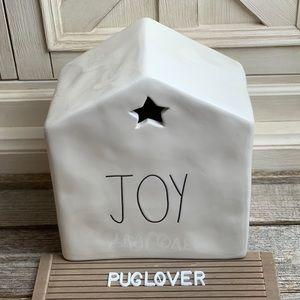 """New! RAE DUNN candle house """"JOY"""" HTF 🎁"""